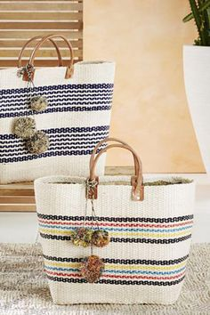 Caracas Sisal Basket Tote by Mar Y Sol. Handmade in Madagascar.