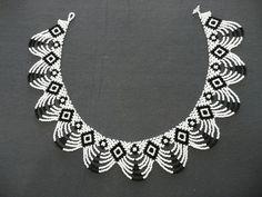 И опять чёрно-белое. Плюс схема. | biser.info - всё о бисере и бисерном творчестве