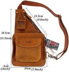 Sling bags for men chest pack leather sling bags Leather Purses, Leather Handbags, Leather Wallet, Leather Tooling, Sacoche Holster, Leather Bag Pattern, Hip Bag, Leather Bags Handmade, Leather Projects