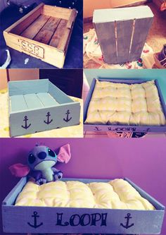 DIY Pet beds from recycled materials (in portuguese)  Source:http://www.casadecolorir.com.br/2013/01/casas-para-seu-pet-faca-voce-mesmo.html