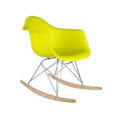 Modern Ash Wood Rocker in Pop Yellow | dotandbo.com