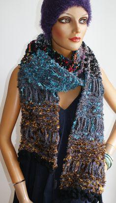 new handmade scarf, unique Handmade Scarves, Shawls, Colours, Unique, Fashion, Ponchos, Scarf Crochet, Handarbeit, Breien