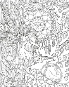 Angel Coloring Pages, Fairy Coloring Pages, Printable Adult Coloring Pages, Coloring Book Art, Bunt, Pencil Drawings, Art Drawings, Woodburning, Yoga Poses