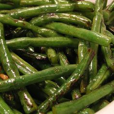 Asian Green Beans Recipe - Used white wine and beef broth as substitutes and it tasted great!