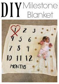 DIY Milestone Blanket - The Chirping Moms