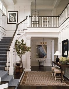 pretty entryway/foyer/staircase