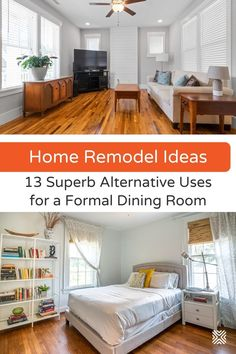 Looking for creative ways to repurpose a dining room? These cool repurposing ideas for dining rooms will inspire you to renovate that space into a room that you'll actually use.