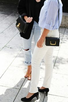 #whitejeans #buttondown