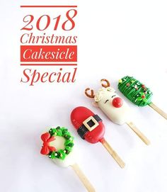 Christmas Cake Pops, Christmas Sweets, Christmas Cooking, Christmas Candy, Magnum Paleta, Chocolate Covered Treats, Ice Cream Pops, Cake Truffles, Cookie Pops