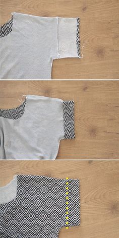 Learn how to sew an easy women's tee shirt with cuffed or rolled short sleeves with this simple step by step sewing tutorial. Instructions how to make shirt