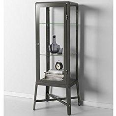 Ikea Fabrikor Glass Door Cabinet , Dark Gray, Lockable , Industrial Design
