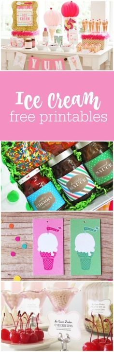 Ice cream social free printables curated by The Party Teacher