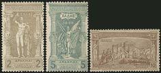 1896 1st Olympic games, complete set of 12 values, m. Light hinge. Very nice set. VF. (Hellas 109/119).