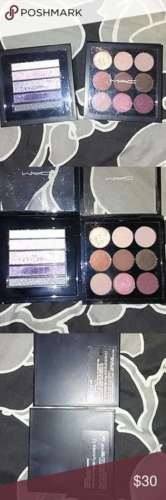 2 mac eyeshadow palettes Good used condition. Lots of product left. Mac burgundy times. Macveluxe in plum luxe. 100 authentic. Good deal. MAC Cosmetics Makeup Eyeshadow