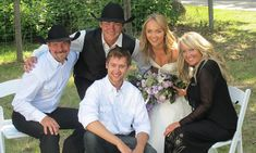 Heartland actress Amber Marshall's rustic ranch wedding - Amber's family