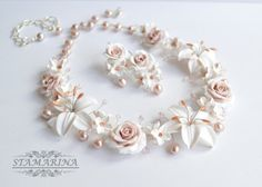 Wedding necklace and earring set La Dolce Vita by Stamarina