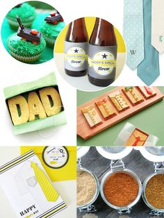 Father's Day Handmade Gift, Card and Food Ideas  by Bird's Party