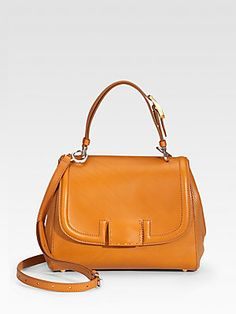 Fendi Solid Silvana Leather Top Handle Bag...Love it in black! A must have!