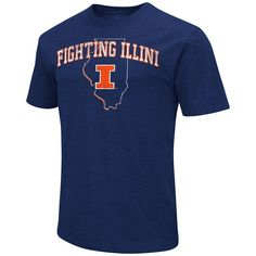 Men's Campus Heritage Illinois Fighting Illini State Tee, Size: Large, Med Orange