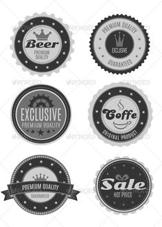 Six Vintage Logo Badges Collection Template | Buy and Download: http://graphicriver.net/item/six-vintage-logo-badges-collection/6521542?WT.ac=category_thumb&WT.z_author=Elena44&ref=ksioks