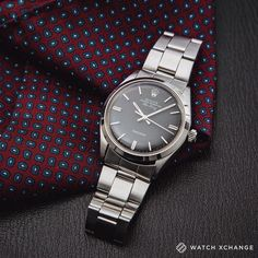 Classic // A complete and unpolished #vintage #Rolex Air King 5500 with subtlely fading black dial from 1972 // Available at http://ift.tt/1qIwSwQ