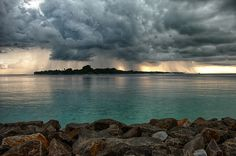 Rain clouds over Kuramathi Rain Clouds