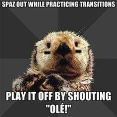 Roller Derby Otter has it right