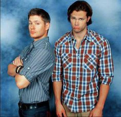 Jensen and Jared. Love Jared's sad moose face :3