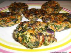 Galettes aux épinards / champignons (végétalien)