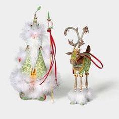 Patience Brewster Christmas Krinkles Hopeful Santa & His Helper Ornament