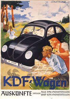 KDF-Wagen, affiche de pub