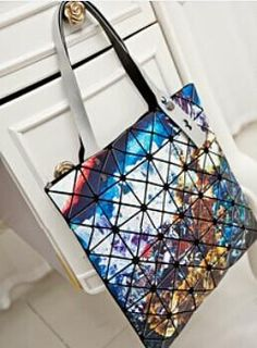 ad2ffa38e400 2018 Hot Sale Women Designer Famous Brand Shoulder Handbags Geometric  Rhombus Bags for Women Bao Bag Messenger Bags Silver