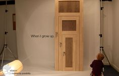 A door that can grow with your kids.  And offer a bit of fun for as well!