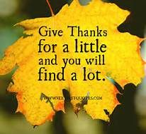 giving thanks quotes - my next social could be asking each resident to say what they're thankful for.