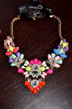 Stunning Multicolor Necklace by Oasap