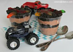 Dirt and Worms Dessert - kids and adults love to eat dirt every now and then.  Perfect for a little boys birthday party.