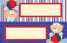 Ursinho Marinheiro – Kit festa grátis para imprimir – Inspire sua Festa ® Baby Shawer, Baby Kit, Nautical Baby, Nautical Theme, Baby Boy Shower, Family Guy, Classroom, Clip Art, Frame