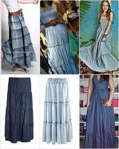 Dicas Para Usar Vestido Jeans Longo Com Manga - Vestido Longo