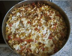 Potato hamburger casserole with sheep 's cheese. Tested: very tasty but I would … - Easy Food Recipes Meat Recipes, Cooking Recipes, Healthy Recipes, Quiche, Happy Foods, Easy Cooking, I Love Food, Soul Food, Food Inspiration