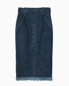 lace-up denim skirt ¥41,040