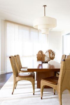 Modern dining room with lots of light