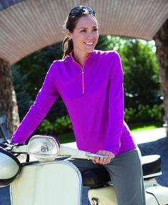 fd6d86b1fb50 Cotton   bamboo long sleeve zip t-shirt. Sun Protection SunniesBambooZipSunglasses