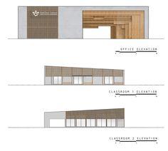 Galerie der Ratchut School / Design in Motion – 20 - Vorschule Residential Schools, Residential Architecture, Modern Architecture, Gate Design, Facade Design, House Design, School Building Design, School Design, Landscape Architecture Drawing