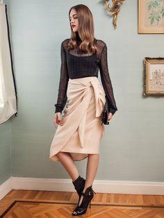 Wraparound Skirt 10/2014#123 | Burda Style