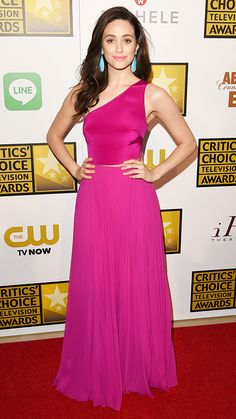 The 2014 Critics' Choice Television Awards Red Carpet - Emmy Rossum in Monique Lhuillier #InStyle