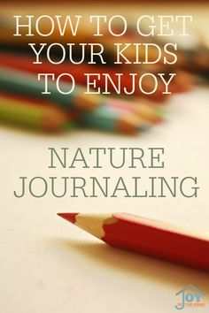 How to Get Your Kids to Enjoy Nature Journaling - Taking these steps will open up the world of nature journaling that your kids will enjoy it for years to come! | www.joyinthehome.com