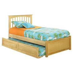Found it at Wayfair - Brooklyn Twin Trundle Bed in Natural Maple
