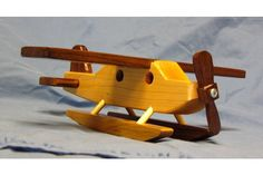 Wood Toy Sea Plane - Wooden Toy Planes