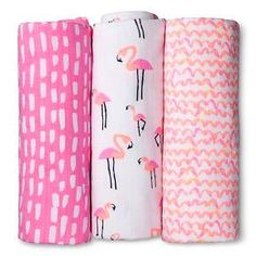 Oh Joy!® 3pk Muslin Swaddle Blanket - Flamingo : Target