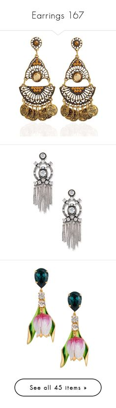 """""""Earrings 167"""" by singlemom ❤ liked on Polyvore featuring jewelry, earrings, gemstone jewelry, coin earrings, bohemian jewelry, fake earrings, coin jewelry, silver, crystal jewelry and sole society"""